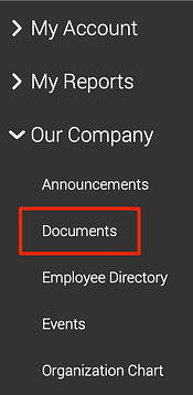 Access company documents via your HCM's employee self-service tools.