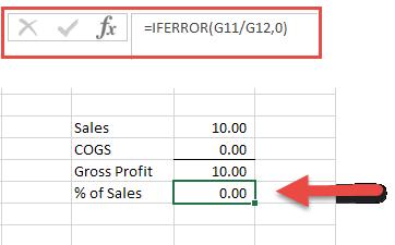 Excel Tips - IFERROR2