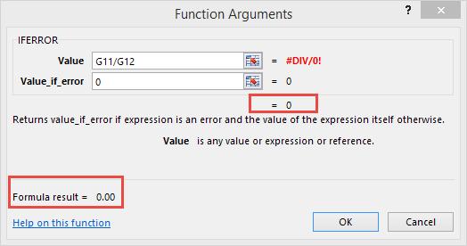 Excel Tips - IFERROR3