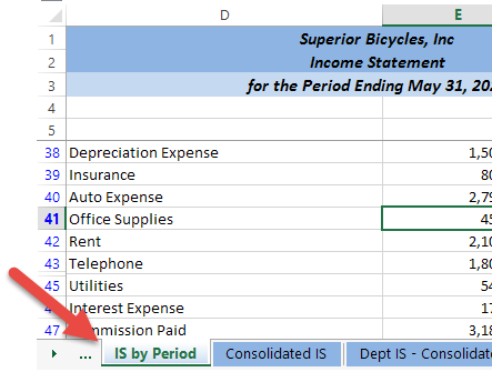 Excel Tips - Navigating Worksheets3