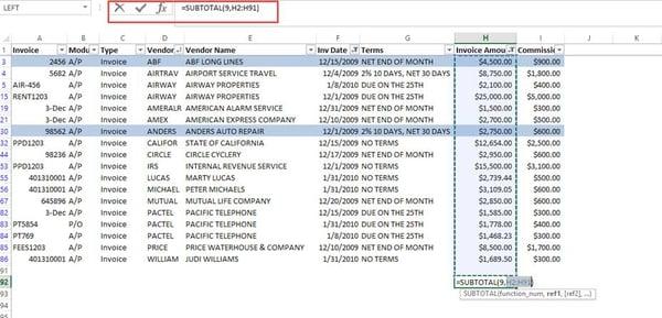Excel Tips - Subtotals2