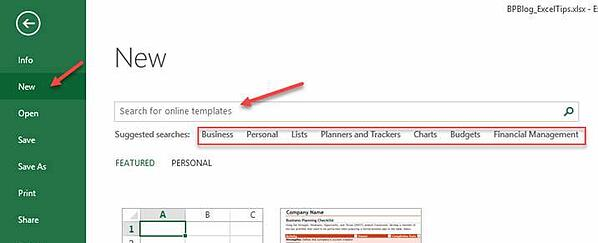 Excel Tips - Templates1