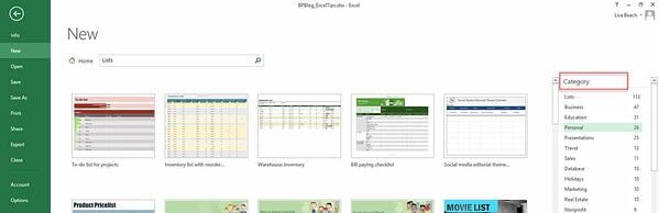 Excel Tips - Templates2