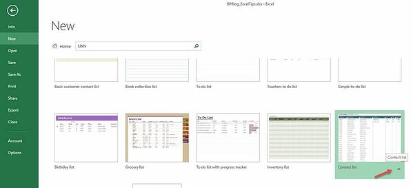 Excel Tips - Templates3