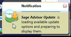 Advice on the Sage Software Advisor Update
