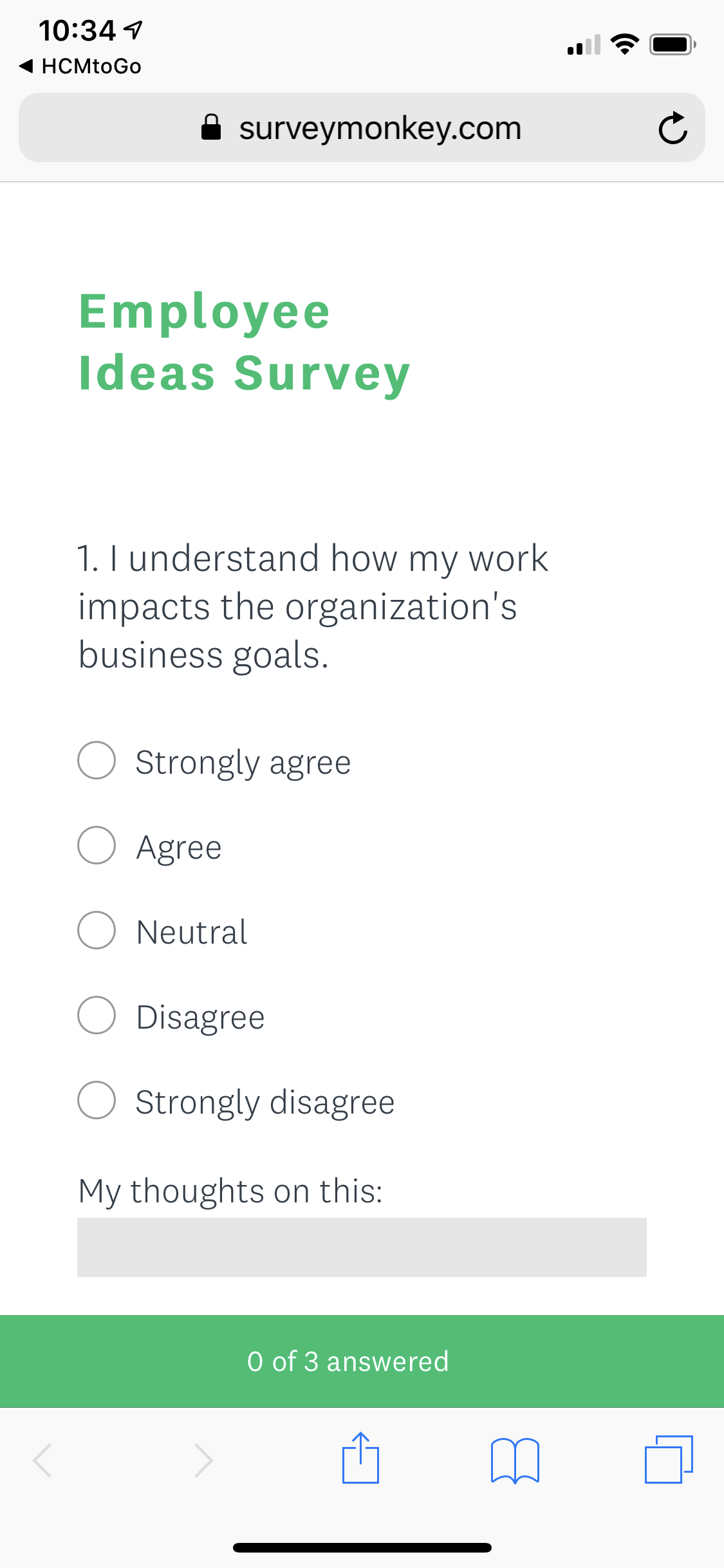 Mobile Employee Engagement Survey