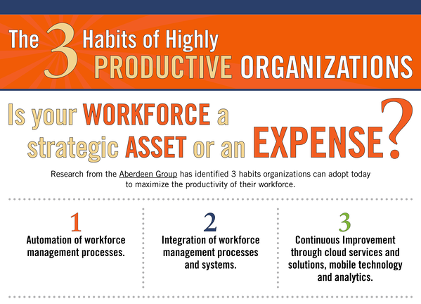 Three Habits of Highly Productive Organizations Overview List